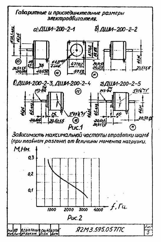 размеры ДШИ 200-2 · Схема